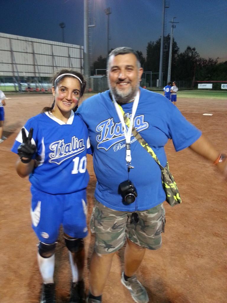 Elena con papà Cento